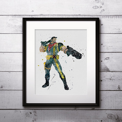 X-Men Bishop - watercolor, Art Print, instant download, Watercolor Print, poster