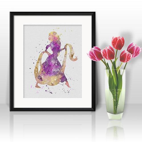 Rapunzel Disney printables Painting, Rapunzel art Print, Rapunzel Poster, Disney wall art, Rapunzel Disney art, Rapunzel art