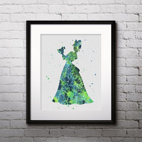 Princess Tiana Disney art Prints, Tiana Posters, Tiana watercolor, Tiana wall art, Tiana home decor, Tiana Art
