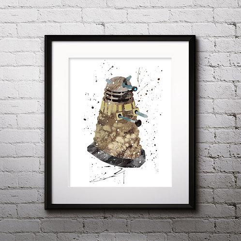Traidis Doctor Who art prints, printable image, wall art, watercolor painting