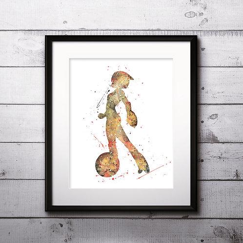 GoGo Tomago DISNEY watercolor, Big Hero 6 Poster - Art Print, instant download, Watercolor Print, poster