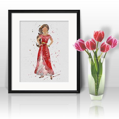 Disney Princesses Princess Disney Art, Princess Elena of Avalor Poster, Elena of Avalor Painting, Elena of Avalor Art Print