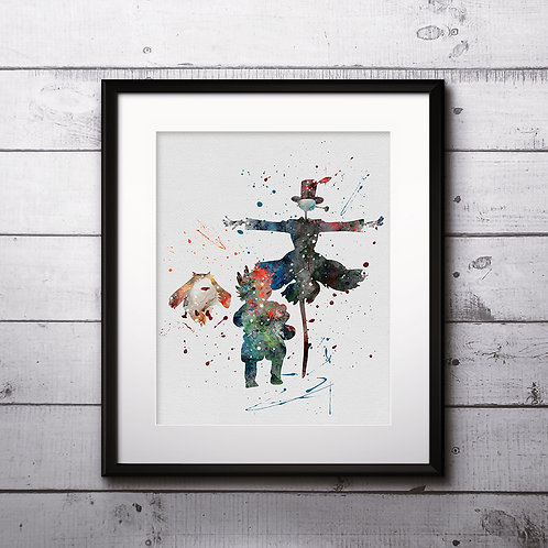 Howl's Moving Castle Anime Watercolor Art Printable, Anime Print, Painting, Home Decor, Wall Art Poster, buy poster, buy art