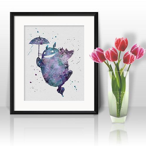Totoro Anime painting Printable Watercolor Art, Print ,Painting, Poster, Home Wall Art, Wall Art Poster, printable art
