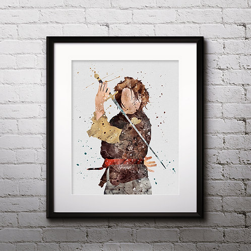 Arya Stark Print, Game of Thrones - watercolor, Art Print, instant download, Watercolor Print, poster