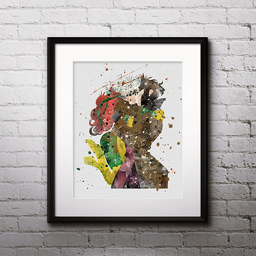 Rogue Superhero art, Superhero Poster, Superhero Painting, Superhero Art Print, Superhero home decor, Superhero Wall Art