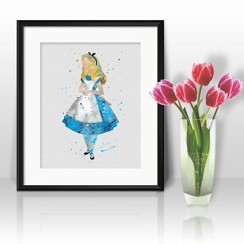 Alice Disney Wall Art, Alice Disney Print, Alice Disney Poster, Alice Disney Painting, Alice Disney art, Alice Disney decor