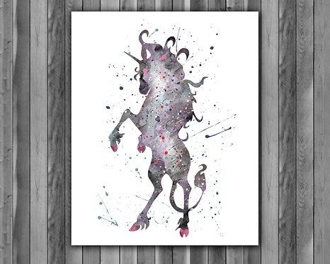Unicorn Art, Unicorn Poster, Unicorn Painting, Unicorn Art Print, Unicorn wall Art