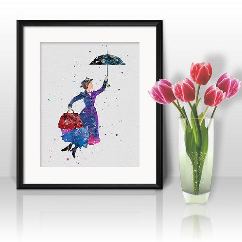 Mary Poppins Disney Nursery Art prints, disney print, disney painting, disney art, Printable art, Disney Home Decor