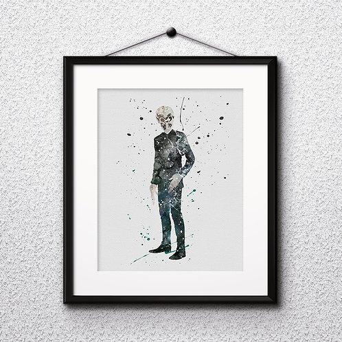 Traidis Doctor Who wall art prints, printable image, poster, watercolor painting
