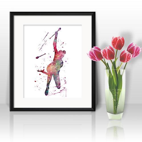 Gymnastics Wall Art, Gymnasticst Print, Gymnastics, Poster, Gymnastics Painting, Gymnastics art