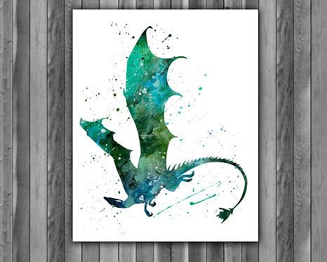 Dragon Art, Dragon Poster, Dragon Painting, Dragon Art Print, Dragon wall Art