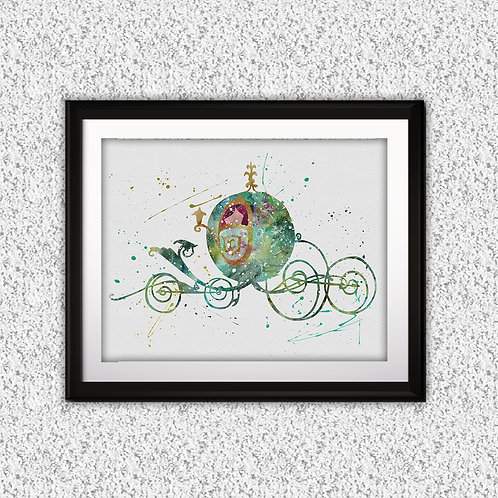 Disney Princess Cinderella Carriage Disney art, Disney Poster, Disney Painting, Disney Art Print, Disney home decor, Disney D