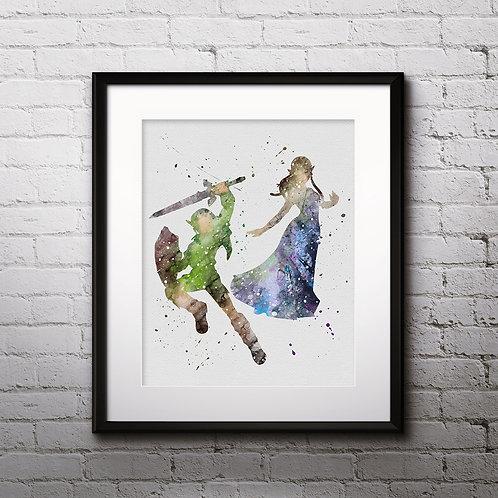 Legend of Zelda Art, Watercolor Printable, Print, Painting, Home Decor, Wall Art Poster, buy poster, buy print