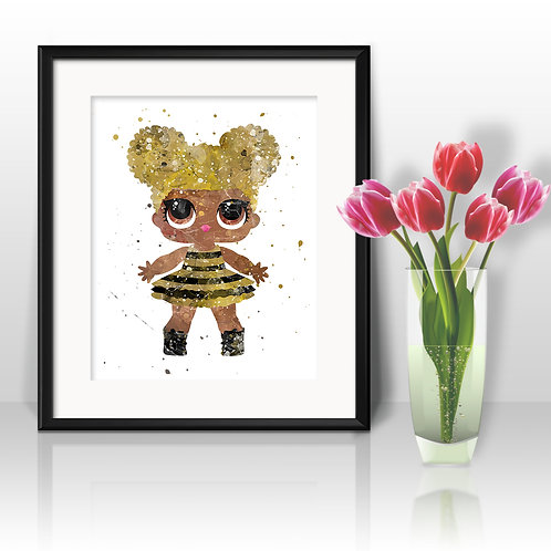 Graphic LOL Doll Art Prints Instant Download Printable Watercolor Art Nursery Prints Painting Poster Home Decor Wall Art