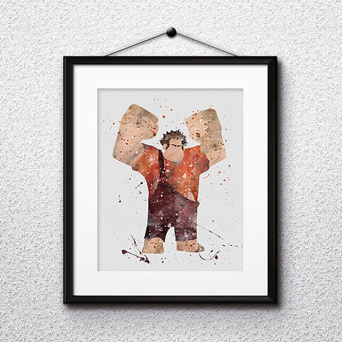 Wreck-It Ralph Disney art, Disney Poster, Disney Painting, Disney Art Print, Disney home decor, Disney Decor, Disney wall art
