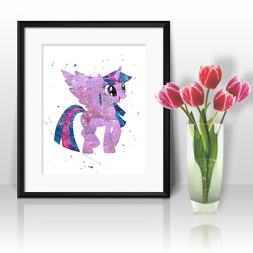 Twilight Sparkle  My Little Pony art print, My Little Pony Art, My Little Pony Poster, My Little Pony Painting, My Little Pon