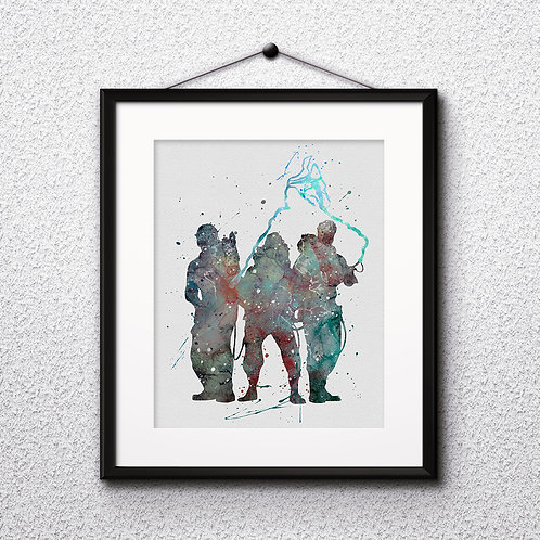 Ghostbusters watercolor poster, Art Print, instant download, Watercolor Print, poster