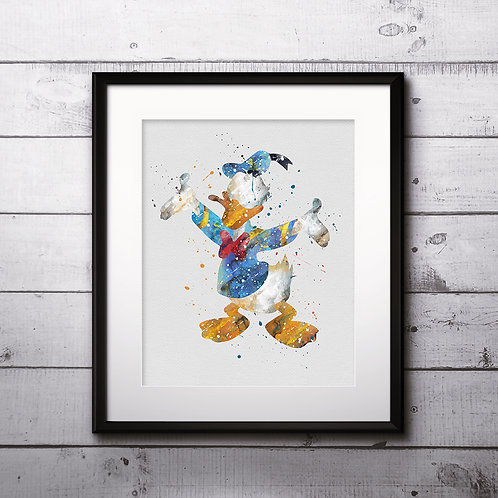 Donald Duck art Disney Artwork, Donald Duck Print, Donald Duck Poster, Donald Duck wall art, Donald Duck Picture