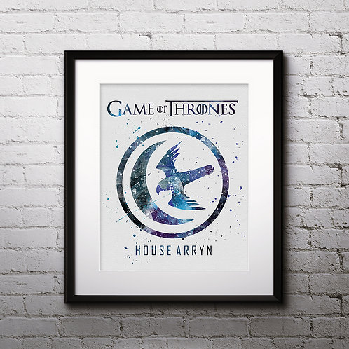 House Arryn Print, Game of Thrones - watercolor, Art Print, instant download, Watercolor Print, poster