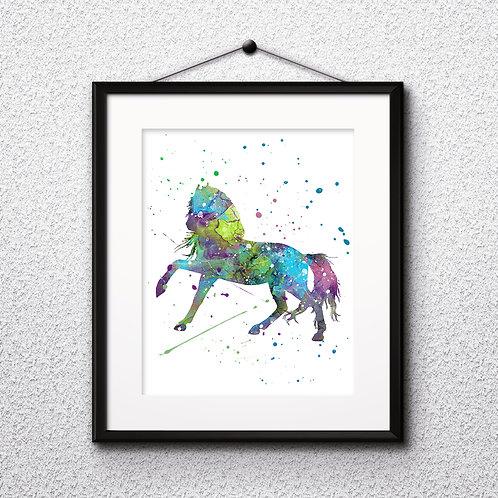 Horse Art Printable, buy Art Print, buy digital image, buy watercolor, buy painting, buy wall art, buy poster