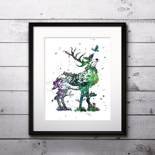 Deer Vintage Art Prints, Poster, watercolor, Painting, Art, Wall Art, Home Decor, Printables  Christian