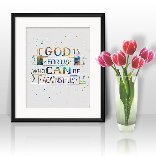 Christian bible quote. Inspirational motivational Christian bible handwritten quote art print. Hand drawn typography poster.