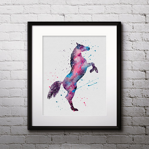 Horse Watercolor, Horse poster, Horse print, Horse painting, Horse Nursery, Horse wall art, Horse home decor, Horse art print