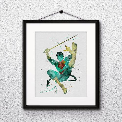 X-Men Nightcrawler - watercolor, Art Print, instant download, Watercolor Print, poster