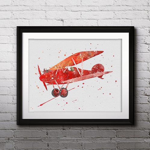 Airplane Print, Aircraft Decor, Biplane Wall Art, Plane Nursery Wall Art, Transportation Decor, Kid Wall Art, Printable, Boy