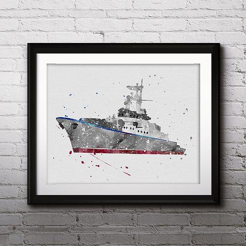Boat Print, Nursery Wall Art, Nautical Decor, Marine, Transportation Wall Art, Boat Wall Decor, Boat Nursery