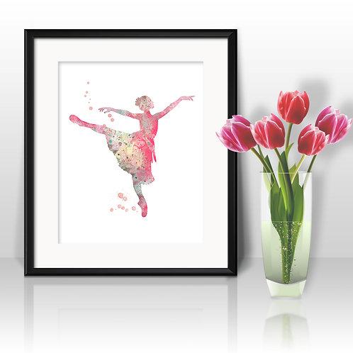 Ballerina Art, Ballerina Watercolor, Ballerina Print, Ballerina Poster, Ballerina Home Decor, Ballerina Painting, Ballet art