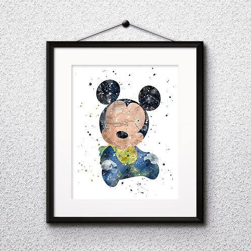Baby Mickey Mouse Art Disney Babies Art Prints Instant Download Printable Watercolor Art Nursery Print