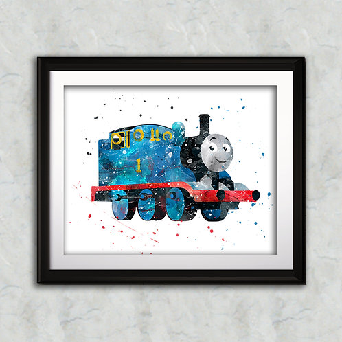 Thomas - Thomas the Tank nursery art print, Wall Art, Poster,  Painting, Home Decor, Watercolor Print, Watercolour Print