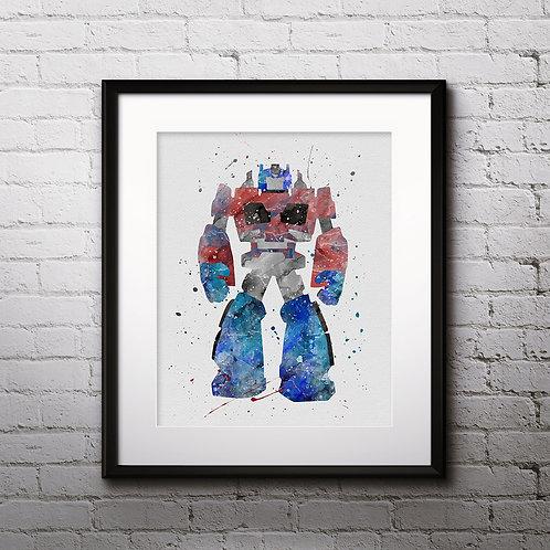 Transformers Optimus Prime Bots Print Nursery, buy Poster, buy Watercolor, buy Print, buy  Art, buy Wall Art, Watercolor art