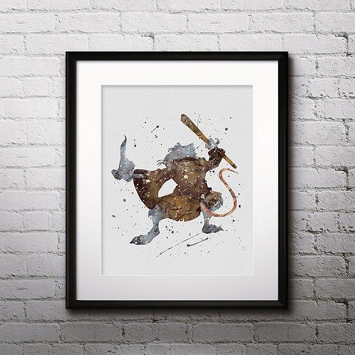 Splinter Mutant Ninja Turtles buy Poster, buy Watercolor, buy Print, buy Art, buy Wall Art, Home Decor, instant download