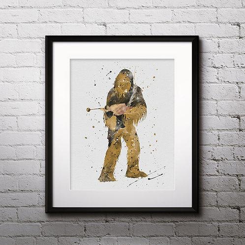 Star Wars Art, Chewbacca, Print, painting, poster, wall art decor, room decor
