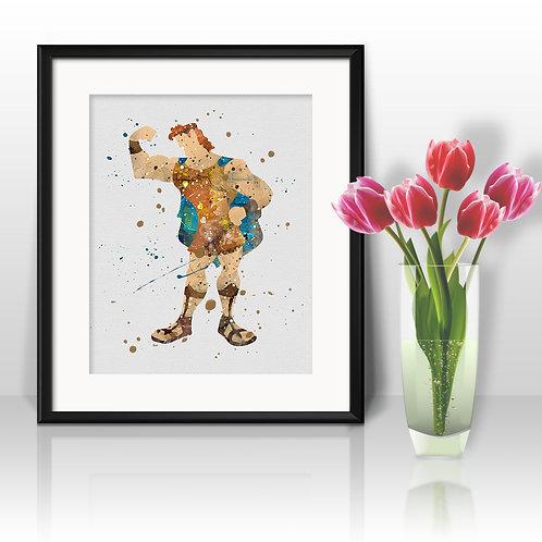 Hercules Disney Art, Hercules Poster, Hercules Painting, Hercules Art Print, Hercules Wall Art, Hercules Home Decor, Hercules