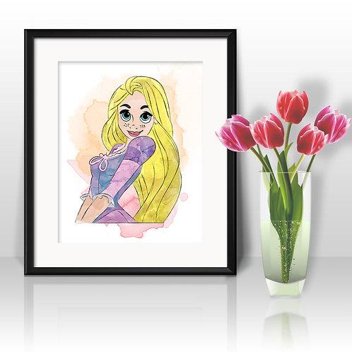 Disney Rapunzel art Prints, Rapunzel Posters, Rapunzel watercolor, Rapunzel wall art, Rapunzel home decor, Rapunzel Art