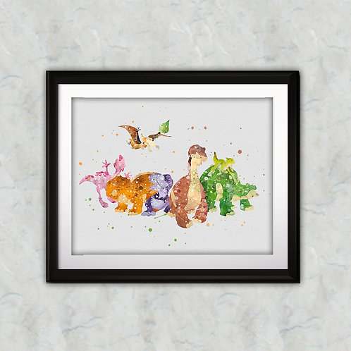 The Land Before Time Disney art prints, disney print, disney buy painting, buy disney art, instant download art, Wall Art