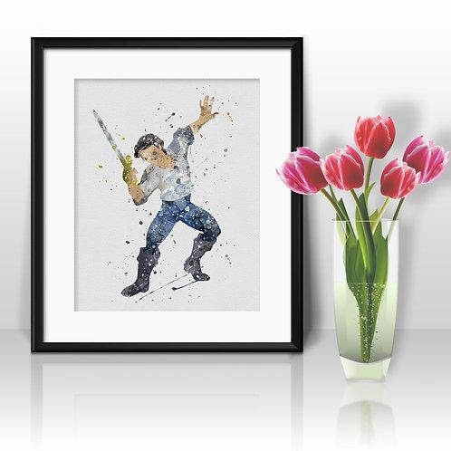 Disney Prince Eric - Ariel Art, Watercolor Printable, Print, Painting, Home Decor, Wall Art Poster, buy poster, buy print