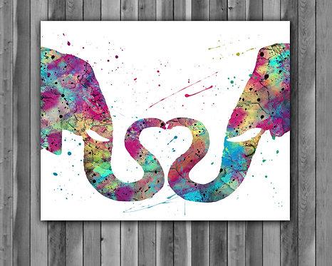 Elephant prints, Elephant image, Elephants art prints, Elephant posterts, Elephant illustration, Elephant Printable, Elephant