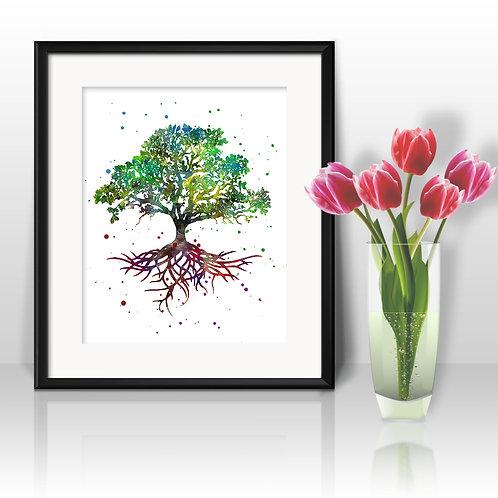 Tree of Life Art Prints, Poster, watercolor, Painting, Art, Wall Art, Home Decor, Printables
