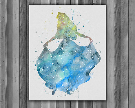 Princess Disney Art, Princess Aurora Poster, Princess Aurora Painting, Princess Aurora Art Print, Princess Aurora Wall Art
