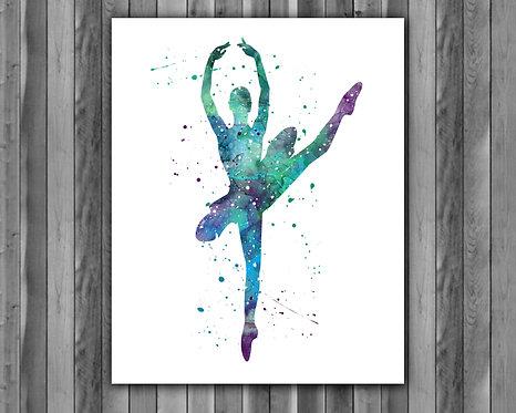 Ballerina Art, Ballerina Watercolor, Ballerina Print, Ballerina Poster, Ballerina Printables, Ballerina Painting, Ballerina