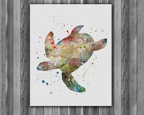 Sea Turtle Art, Sea Turtle Wall Art, Sea Turtle Print, Sea Turtle Poster, Sea Turtle Home Decor, Sea Turtle Painting, Sea Art