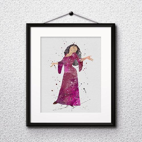 Rapunzel Princess art, Disney Poster, Disney Painting, Disney Art Print, Disney home decor, Disney Decor, Disney wall art