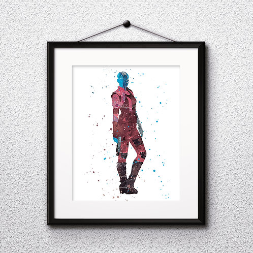 Nebula Guardians of the Galaxy Art Print, Poster, Watercolor Print, Wall Art, Painting
