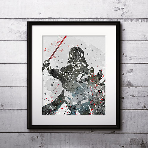Darth Vader Star Wars, Buy Star Wars Painting, Buy Star Wars Art Print, Buy Star Wars Watercolor Print, Star Wars Poster