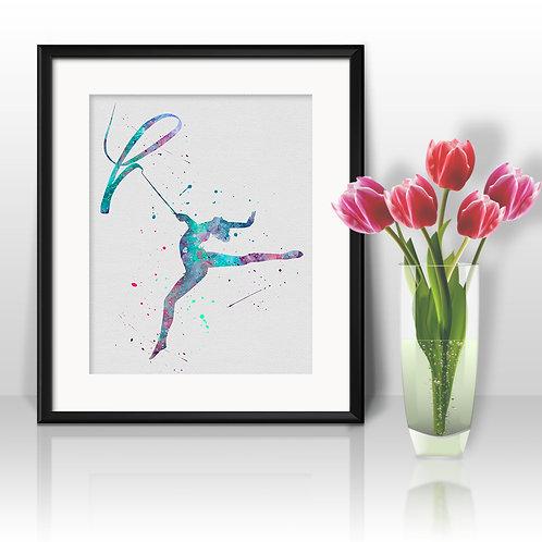 Gymnastics Wall Art, Gymnasticst Print, Gymnastics, Poster, Gymnastics Painting, Gymnastics art, Gymnastics home decor